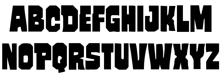 Mindless Brute Font LOWERCASE