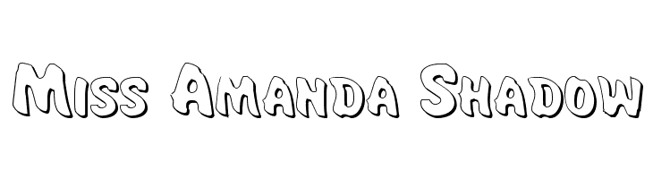 Miss Amanda Shadow Free Fonts Download