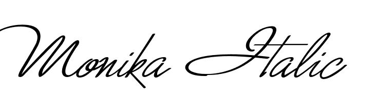 Monika Italic  les polices de caractères gratuit télécharger