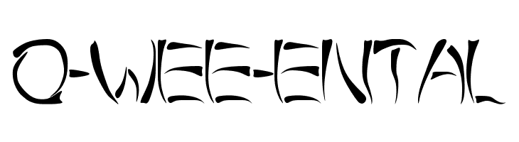 o-wee-ental  les polices de caractères gratuit télécharger