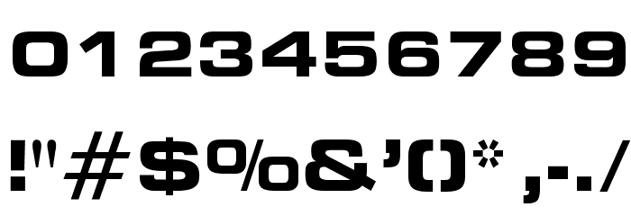 OPTIEdgarBold-Extended Font OTHER CHARS