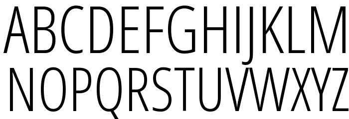 Open Sans Condensed Light Font UPPERCASE