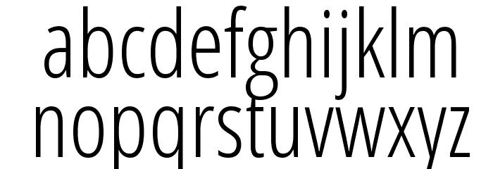 Open Sans Condensed Light Font LOWERCASE