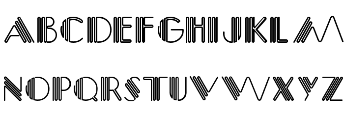 Picadilly Font UPPERCASE