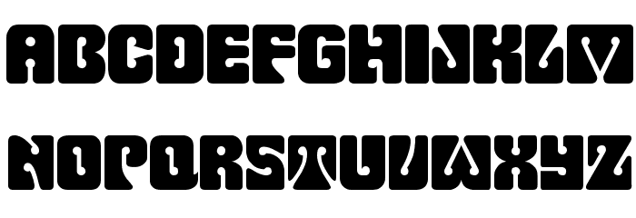 Pinocchio Font UPPERCASE