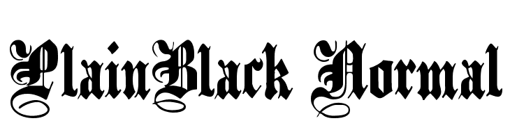 PlainBlack Normal Free Fonts Download