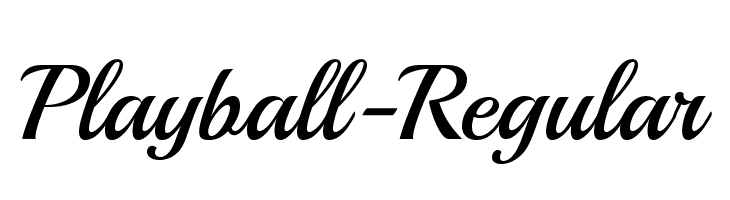 Playball-Regular  Free Fonts Download
