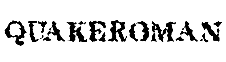 QuakeRoman Free Fonts Download