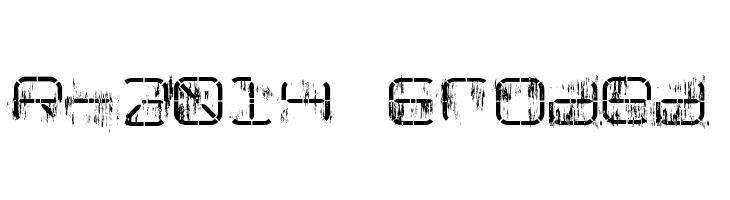 R-2014 Eroded  Frei Schriftart Herunterladen