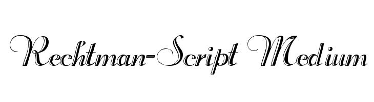Rechtman-Script Medium  नि: शुल्क फ़ॉन्ट्स डाउनलोड