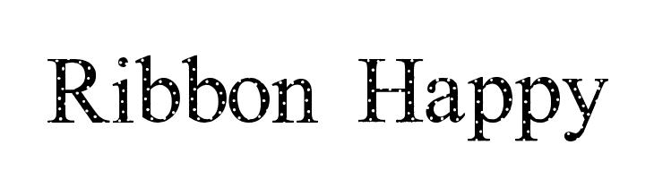 Ribbon Happy  Free Fonts Download
