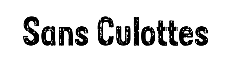Sans Culottes Free Fonts Download