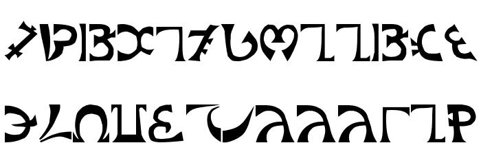 Schuelers-Enochian Font LOWERCASE