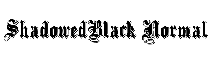 ShadowedBlack Normal Free Fonts Download