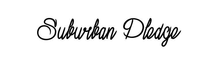 Suburban Pledge  Free Fonts Download