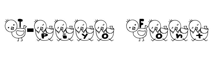 T-piyo Font  免费字体下载