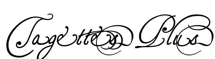 TagettesPlus  フリーフォントのダウンロード