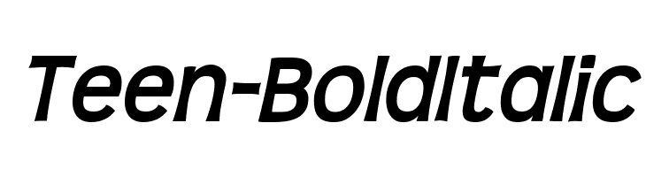 Teen-BoldItalic Free Fonts Download