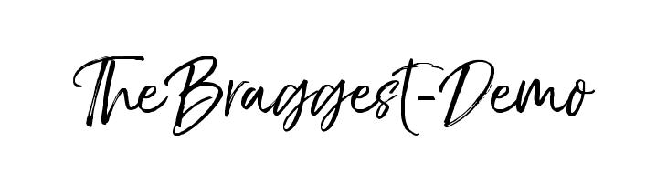 TheBraggest-Demo  フリーフォントのダウンロード