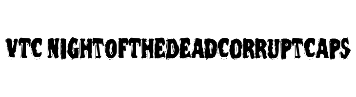 VTC NightOfTheDeadCorruptCaps Free Fonts Download