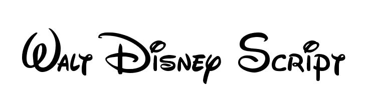 Walt Disney Script  Fuentes Gratis Descargar