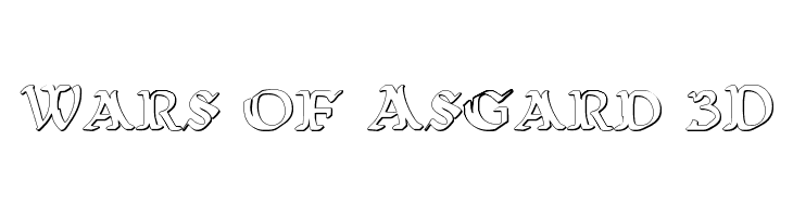 Wars of Asgard 3D Free Fonts Download