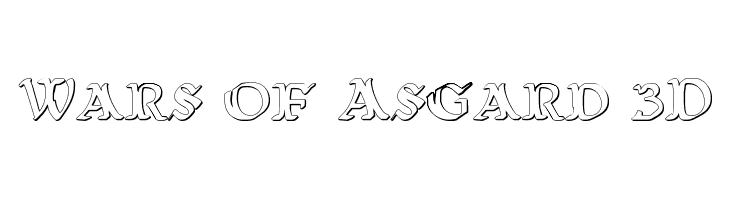 Wars of Asgard 3D  Free Fonts Download