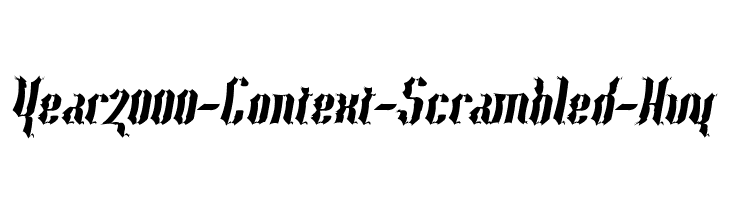 Year2000-Context-Scrambled-Hvy Free Fonts Download