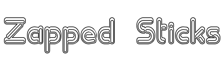 Zapped Sticks Free Fonts Download