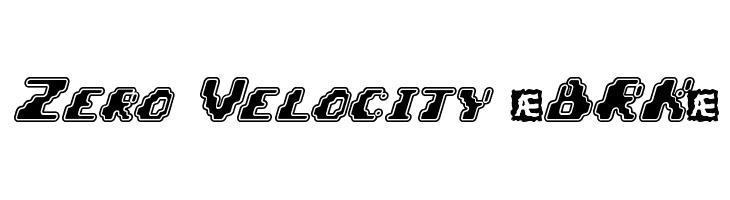 Zero Velocity [BRK]  नि: शुल्क फ़ॉन्ट्स डाउनलोड