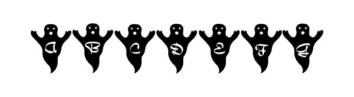 ABCDEFG LMS Spooky Speller Font