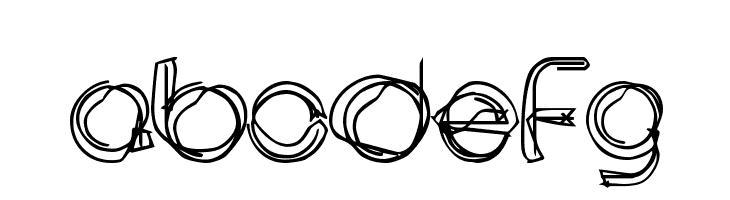 ABCDEFG area LINEe Font