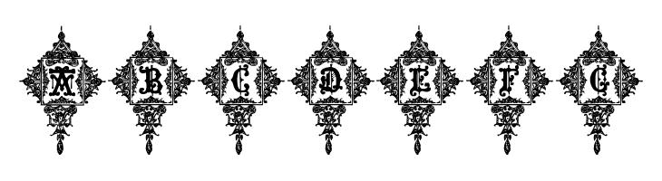 ABCDEFG Medieval Sorcerer Ornamental Font