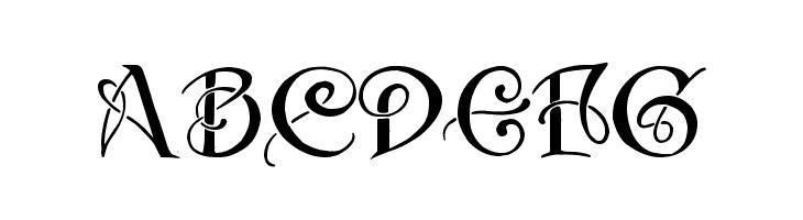 ABCDEFG Initials with curls Font