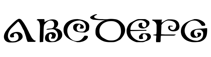 ABCDEFG The Shire Expanded Font