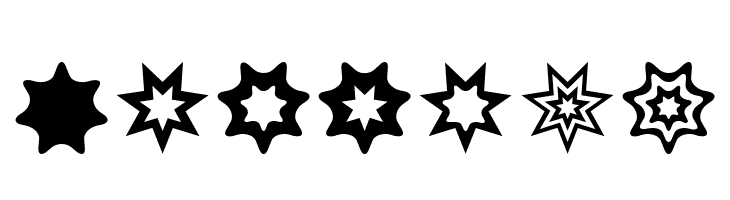ABCDEFG Star Things 2 Font