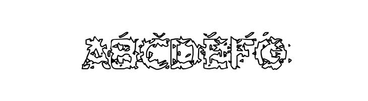 ABCDEFG Hammeroid Hollow Font