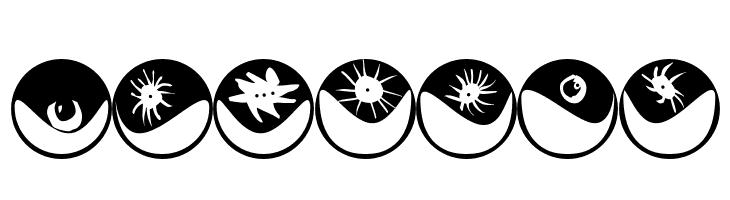 ABCDEFG Eyeballs Font