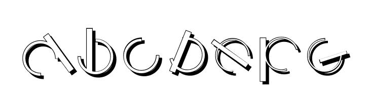 ABCDEFG LogomatiqueShadow Font