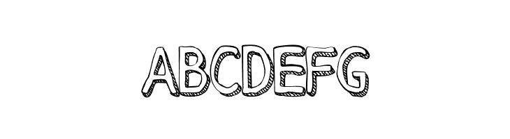 ABCDEFG Stroke Dimension Font