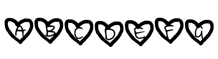 ABCDEFG Loving you is another story. Font
