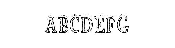 ABCDEFG Biscuit Made Font