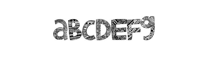 ABCDEFG Little Snorlax Font