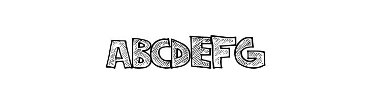 ABCDEFG StripeFun Font