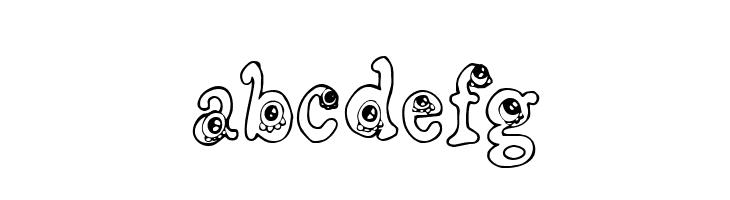ABCDEFG CF Little Monsters Regular Font