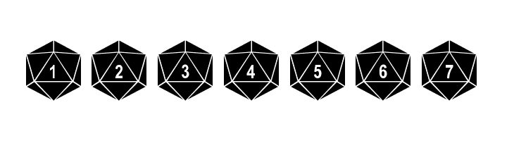 ABCDEFG dPoly Duodecahedron Font