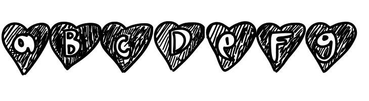 ABCDEFG Overhearts Font