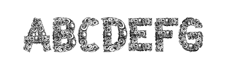 ABCDEFG CF Azteques Regular Font