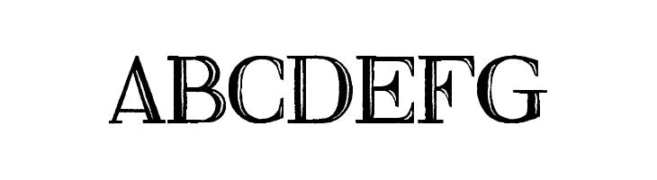 ABCDEFG Fine Blackboard Font