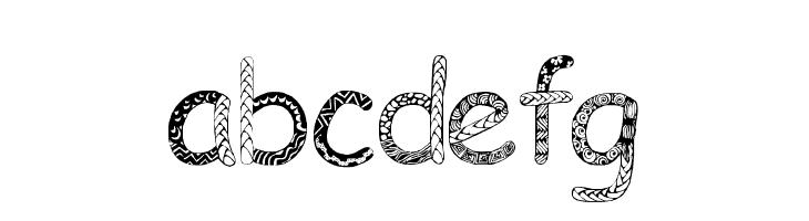 ABCDEFG Doodlowers Font